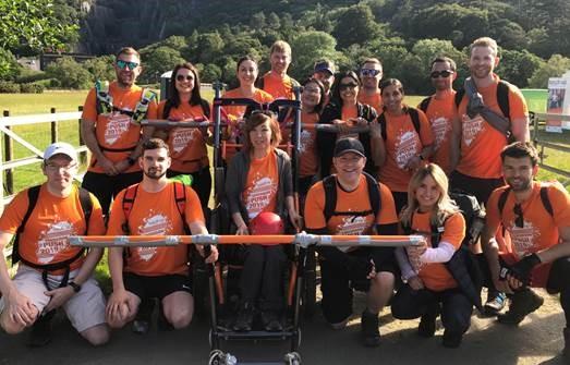 Group of volunteers on a trip