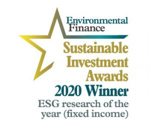 Label of Sustainable Investment Awards 2020 for ESG research of the year
