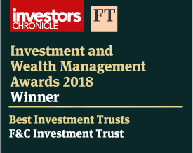 Label of Investment and Wealth Management Awards 2018 for best investment trusts