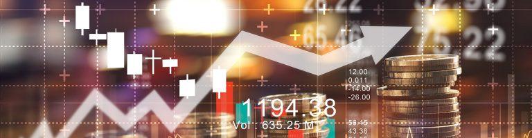 Stock chart coins banner