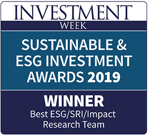 Sustainable & esg investment awards