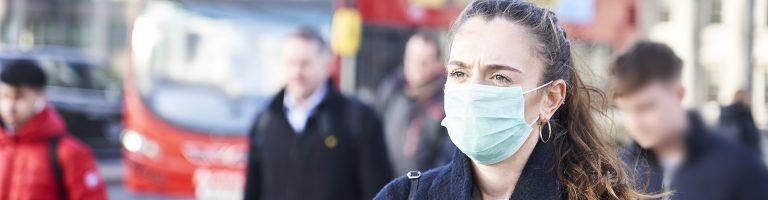 Woman wear mask