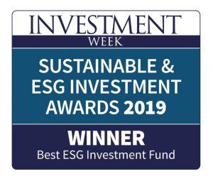 Winner in best esg investment fund - awards 2019