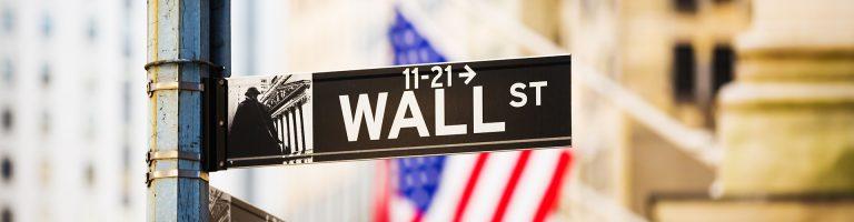 Wall Street sign, New York City, USA