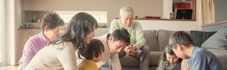Family enjoying their time