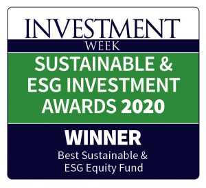 Winner in best sustainable and esg equity fund - awards 2020