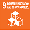 Industry inovation and infrastructure icon