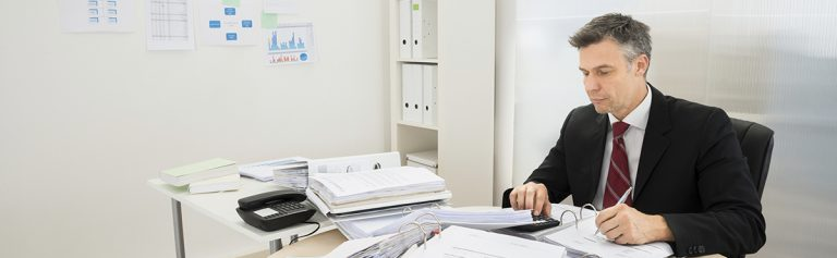 Man working in the office