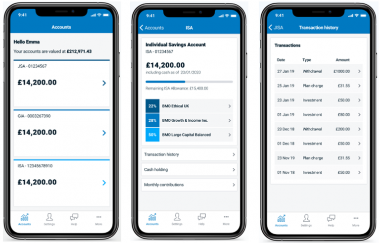 Bmo application on mobile device