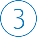The icon with number three in circle