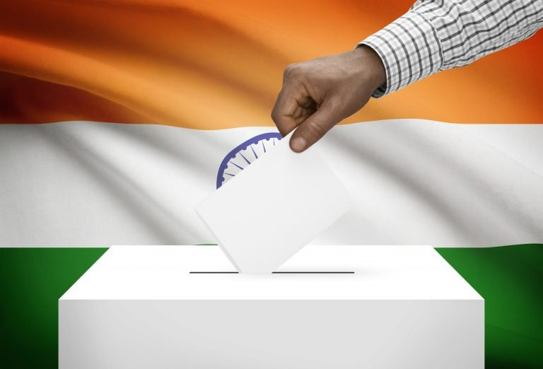 Tossing the ballot while voting in India