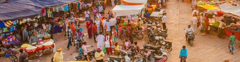 Local market in an Indian town