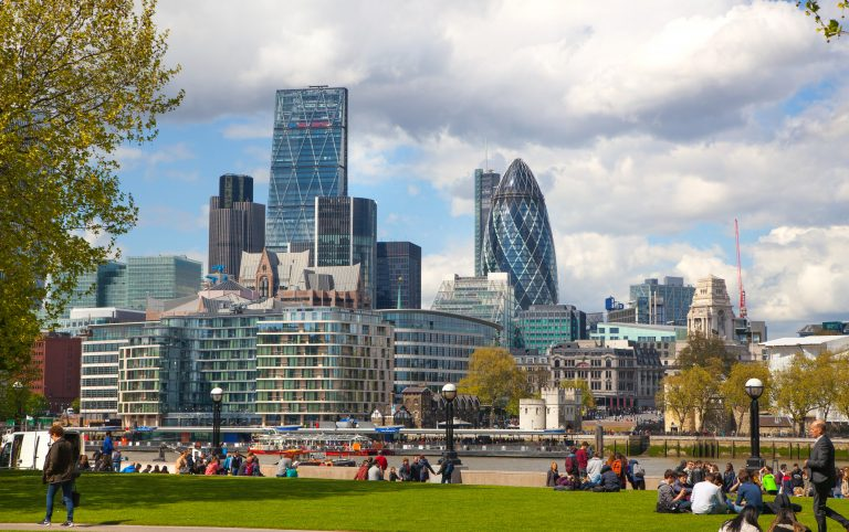 London panorama from boulevards view