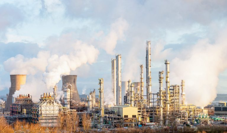 Oil Refinery and Petrochemical Plant at Grangemouth in Scotland